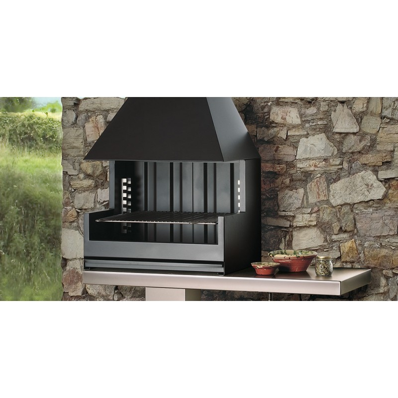 Cheminee D Exterieur Barbecue Palma 75 Inox Porche Sivacpro